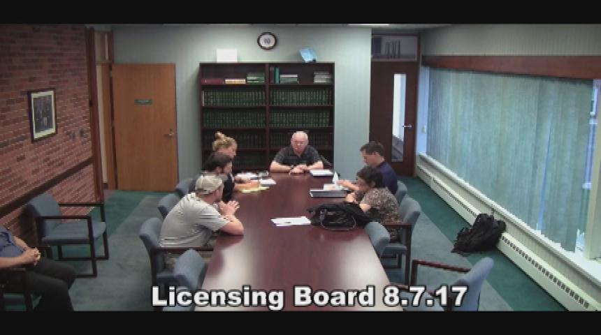 Licensing Board 8.7.17