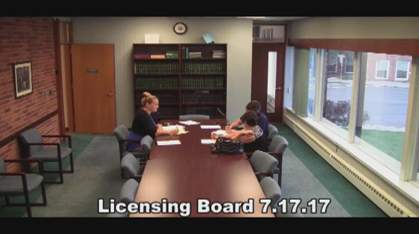 Licensing Board 7.17.17