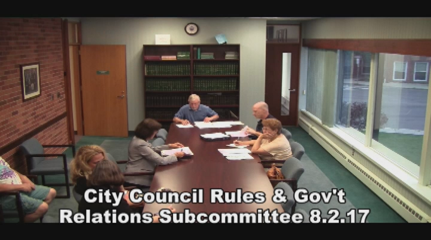 City Council Rules Subcommittee 8.2.17