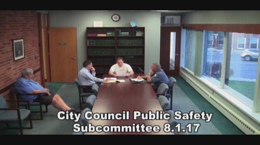 City Council Public Safety Subcommittee 8.1.17