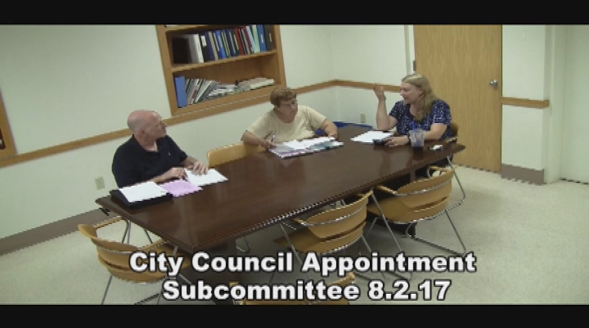 City Council Appointment Subcommittee 8.2.17