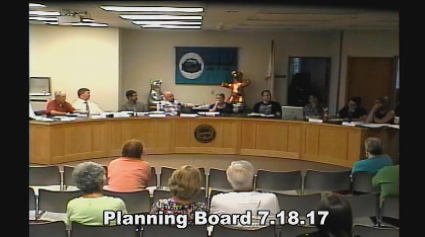Planning Board July 18 2017