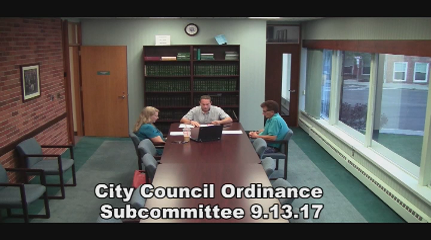 City Council Ordinance Subcommittee 9.13.17