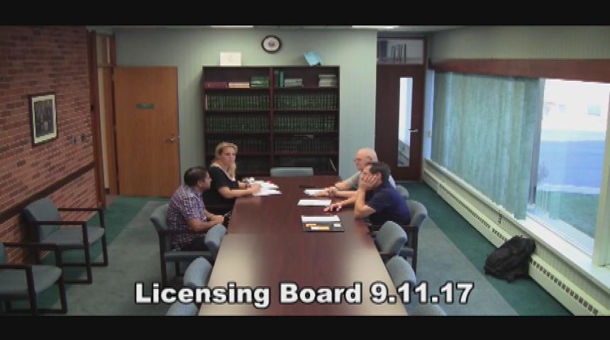 Licensing Board 9.11.17