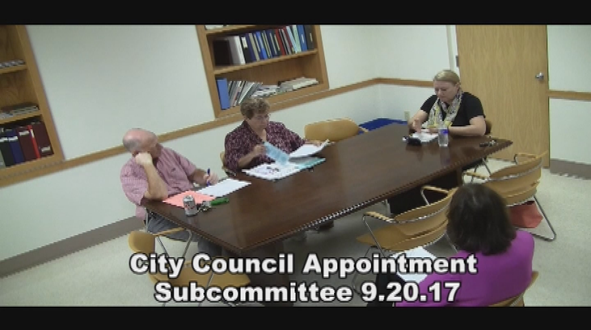 City Council Appointment Subcommittee 9.20.17