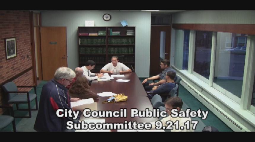City Council Public Safety Subcommittee 9.21.17