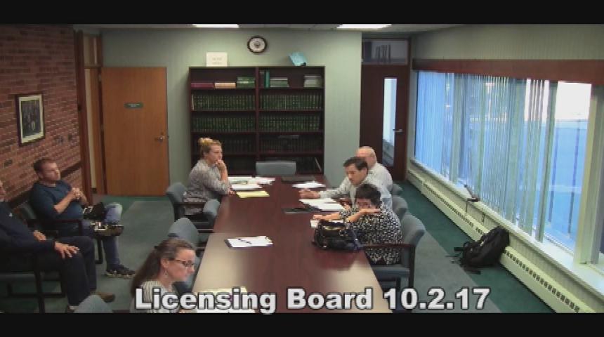 Licensing Board 10.02.17