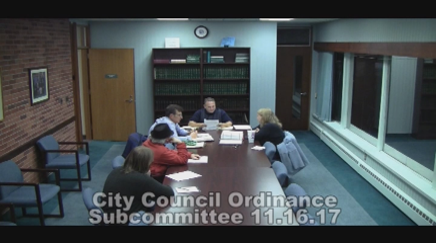 City Council Ordinance Subcommittee 11.16.17