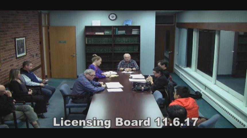 Licensing Board 11.06.17