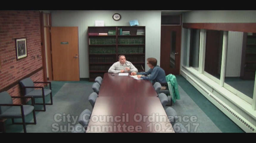 City Council Ordinance Subcommittee 10.26.17