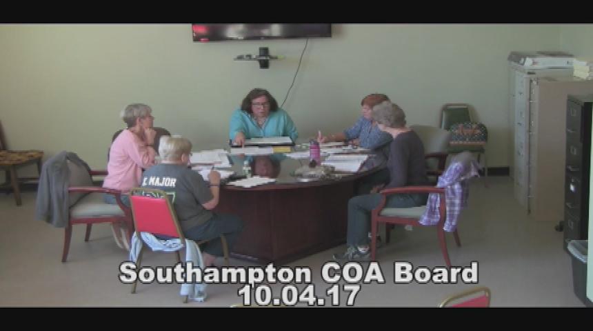 Southampton COA Board 10.4.17