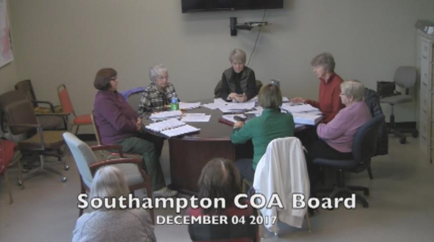 Southampton COA Board 12.4.17