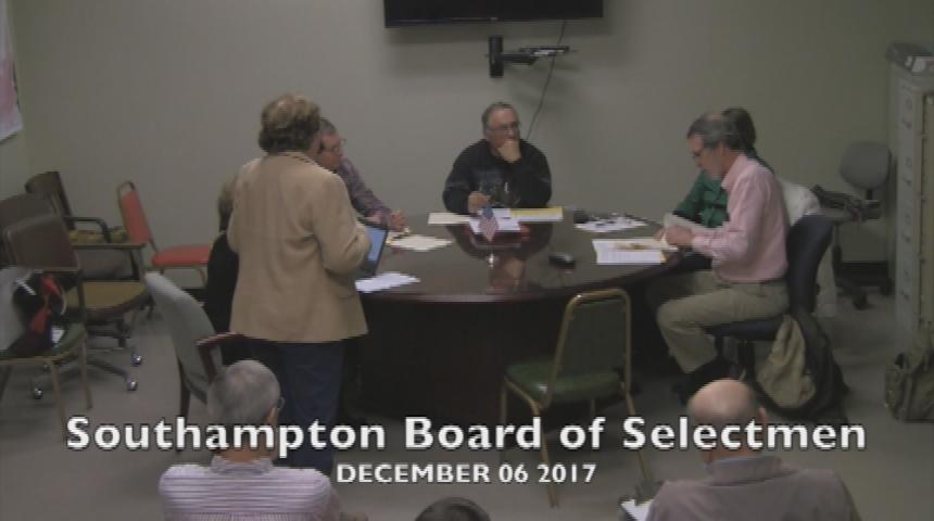 Southampton SelectBoard Meeting 12.6.17