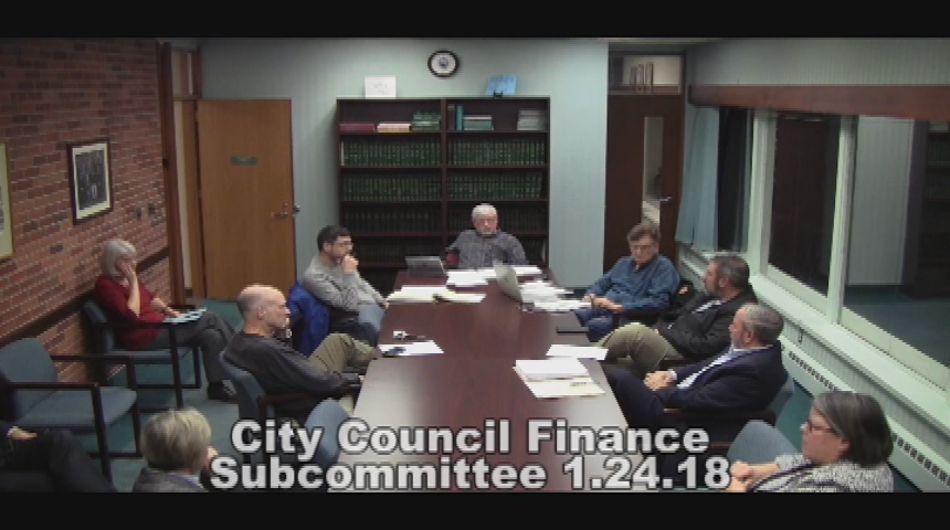 City Council Finance Subcommittee 1.24.18