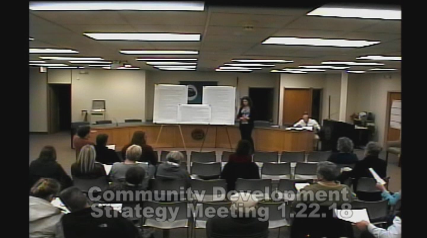 Community Development Block Grant Strategy Meeting 1.22.18