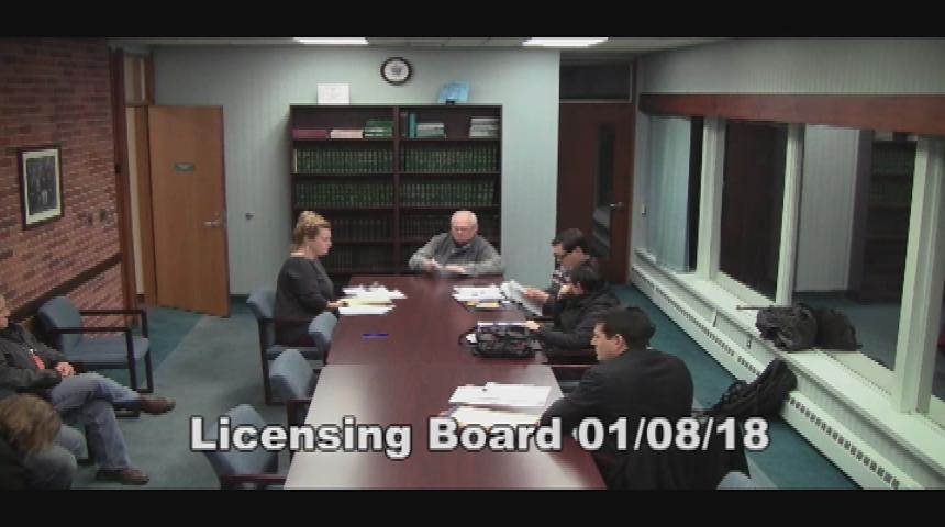 Licensing Board 1.8.18