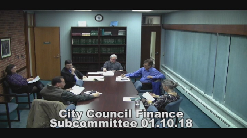 City Council Finance Subcommittee 1.10.18