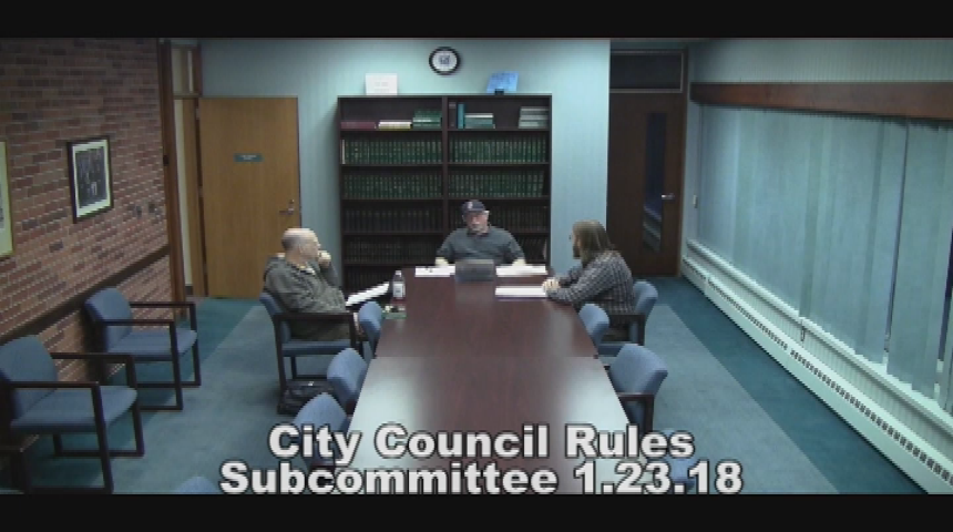 City Council Rules Subcommittee 1.23.18