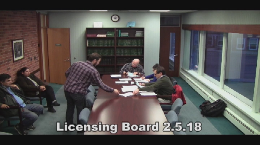 Licensing Board 2.5.18