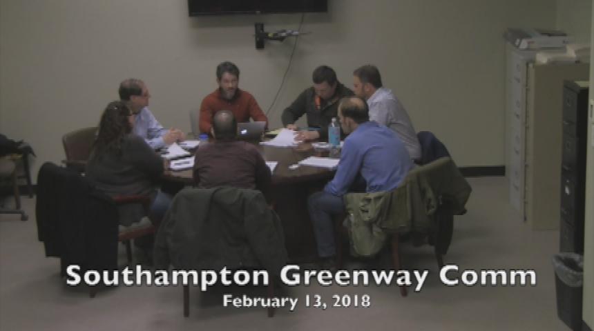 Southampton Greenway Committee 02.13.18