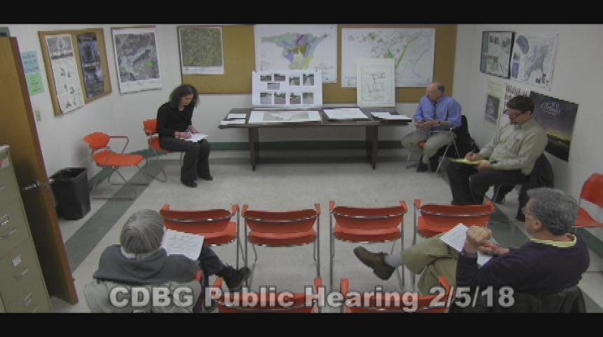 CDBG Public Hearing 2.5.18