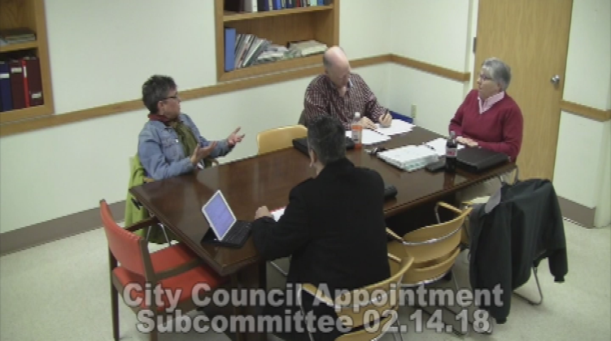 City Council Appointment Subcommittee 2.14.18