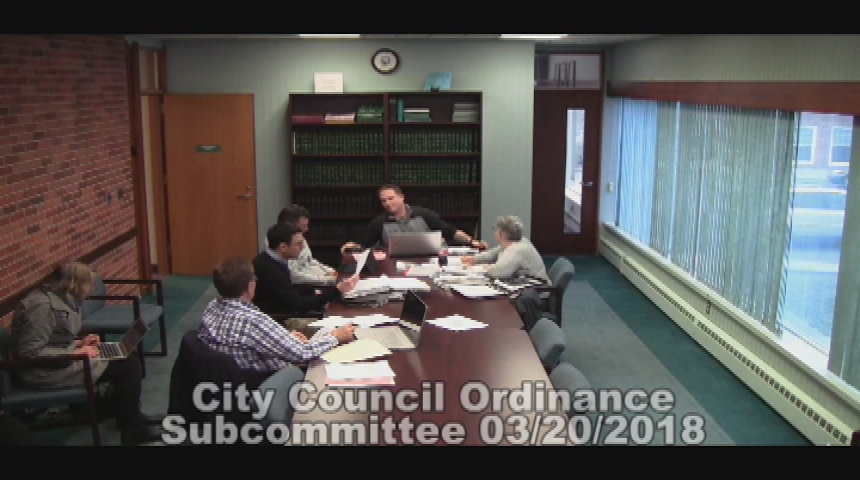 City Council Ordinance Subcommittee 3.20.18