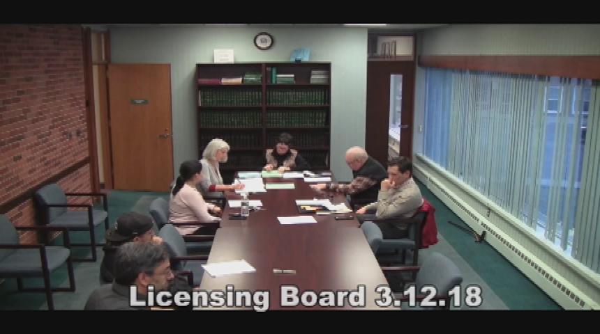 Licensing Board 3.12.18