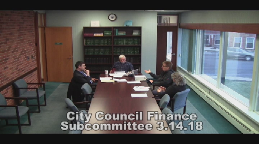City Council Finance Subcommittee 3.14.18