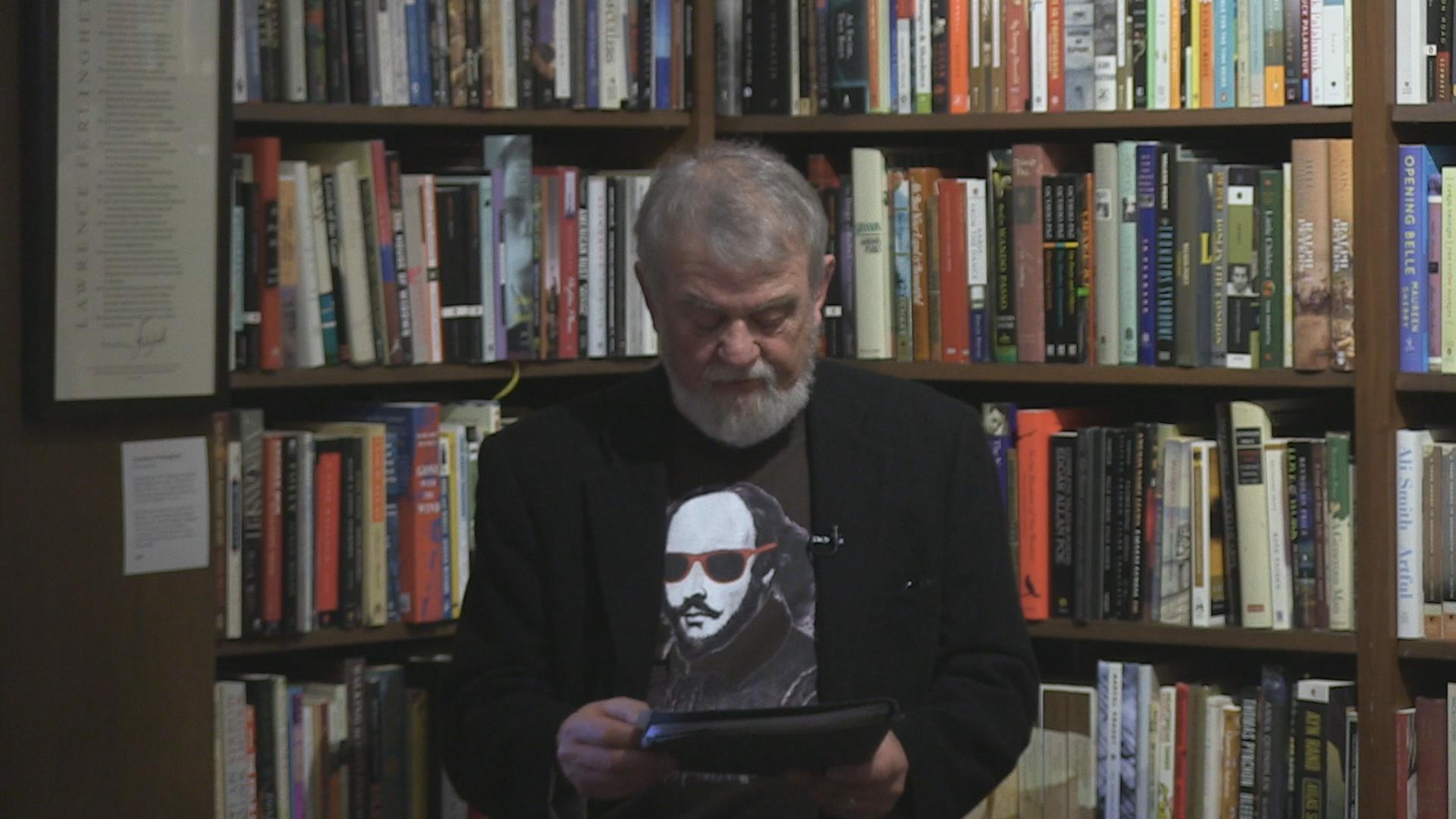 Easthampton Poet Laureate Gary Metras at Bookfest 2018