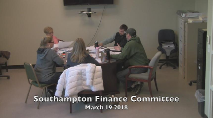 Southampton Finance Committee 3.19.18