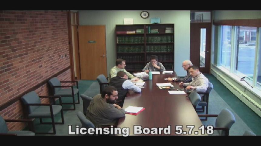 Licensing Board 5.7.18