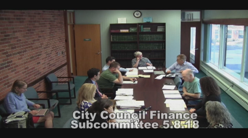 City Council Finance Subcommittee 5.8.18
