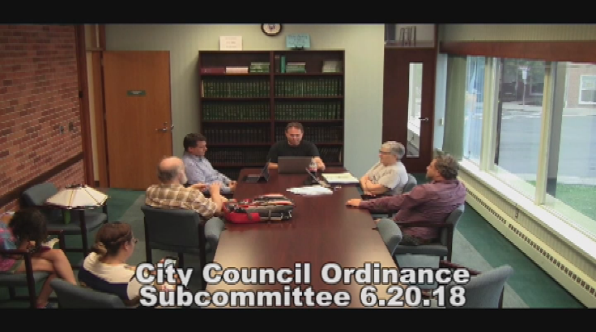 City Council Ordinance Subcommittee 6.20.18