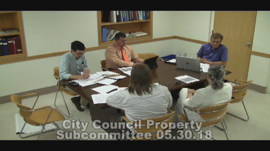 City Council Property Subcommittee 5.30.18