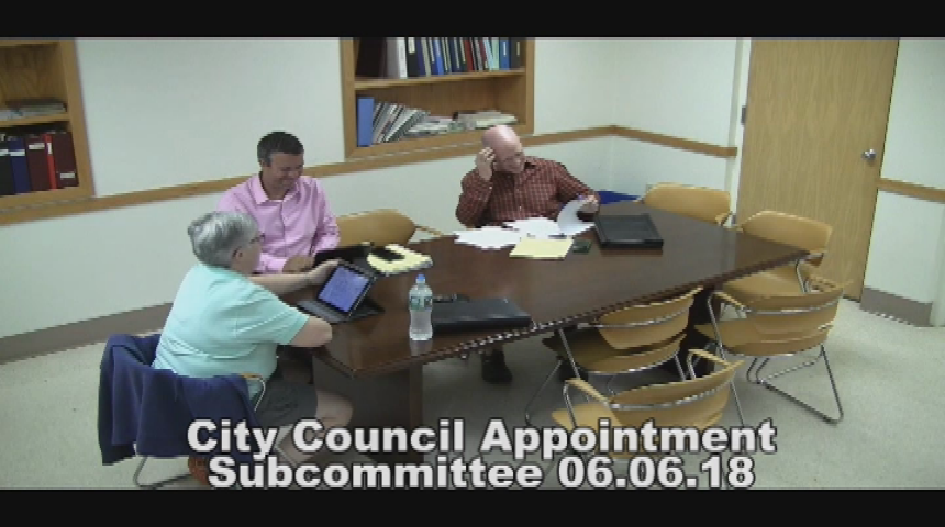 City Council Appointment Subcommittee 6.6.18