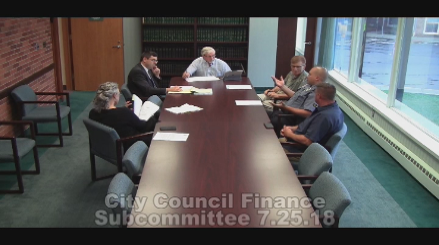 City Council Finance Subcommittee 7.25.18