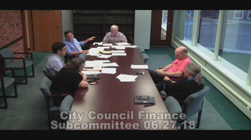 City Council Finance Subcommittee 6.27.18