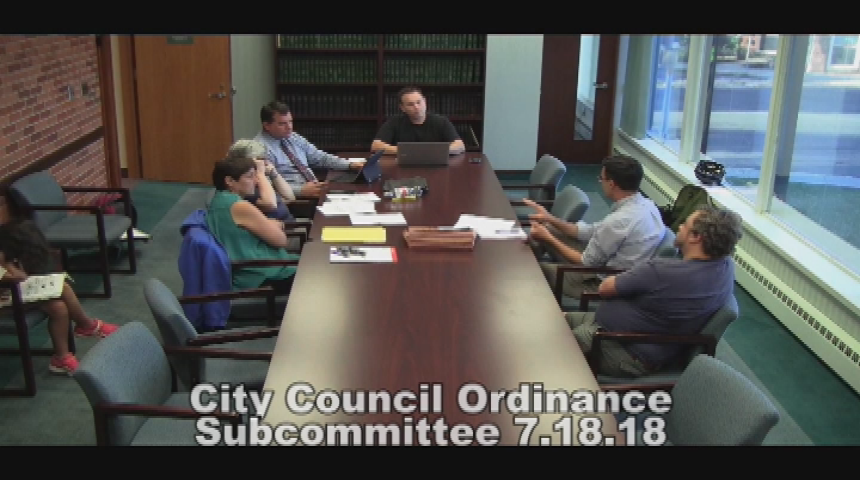 City Council Ordinance Subcommittee 7.18.18