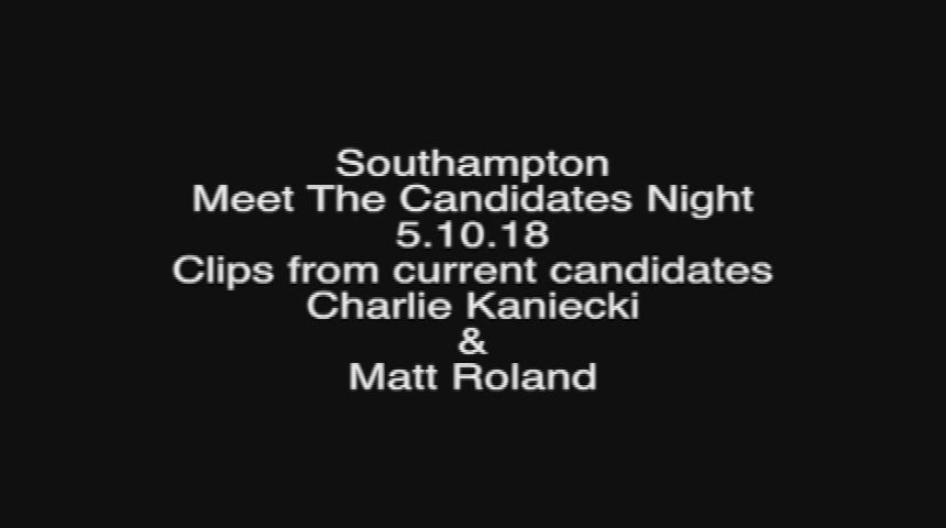 Southampton Current Candidates Debate 5.10.18