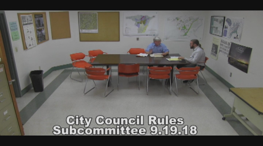 City Council Rules Subcommittee 9.19.18