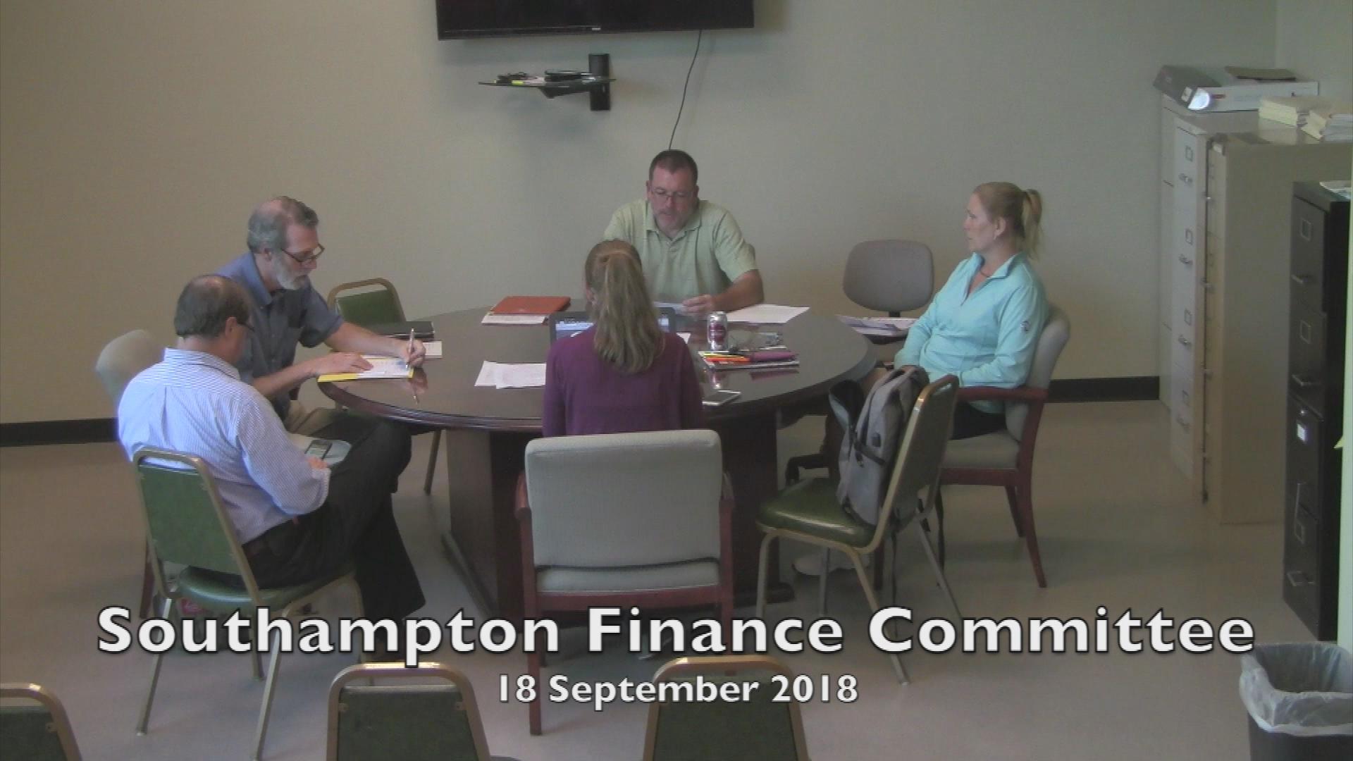 Southampton Finance Committee 09.18.18