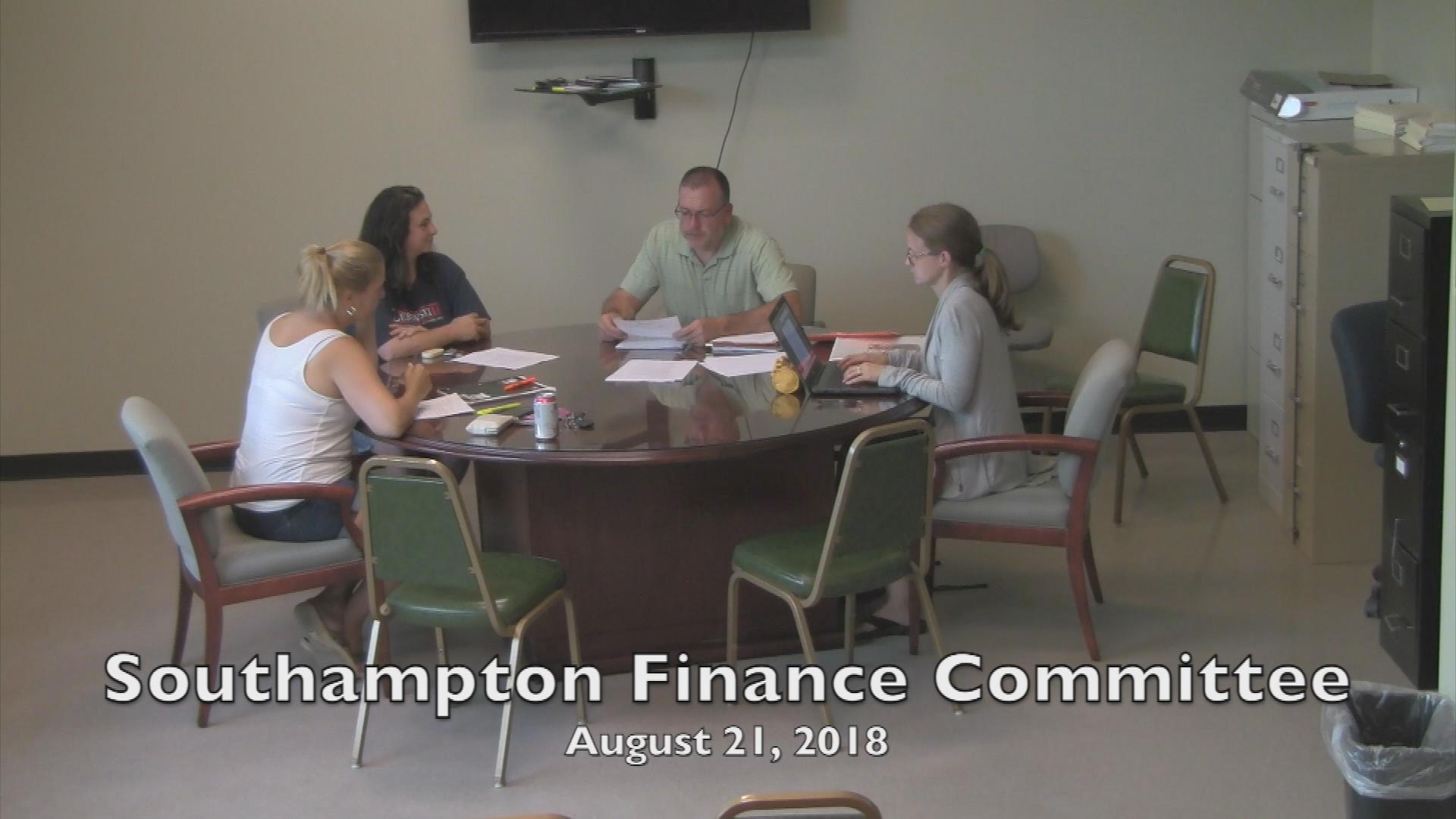 Southampton Finance Committee 8.21.18