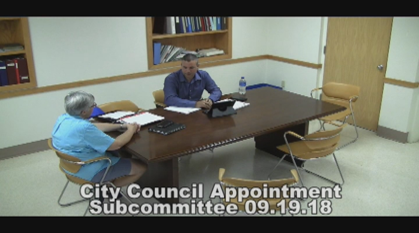 City Council Appointment Subcommittee 9.19.18