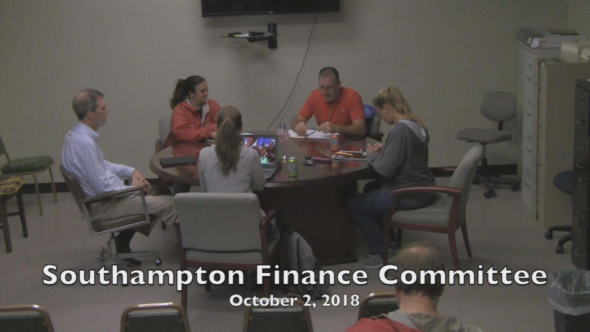 Southampton Finance Committee 10.2.18