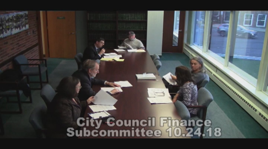 City Council Finance Subcommittee 10.24.18