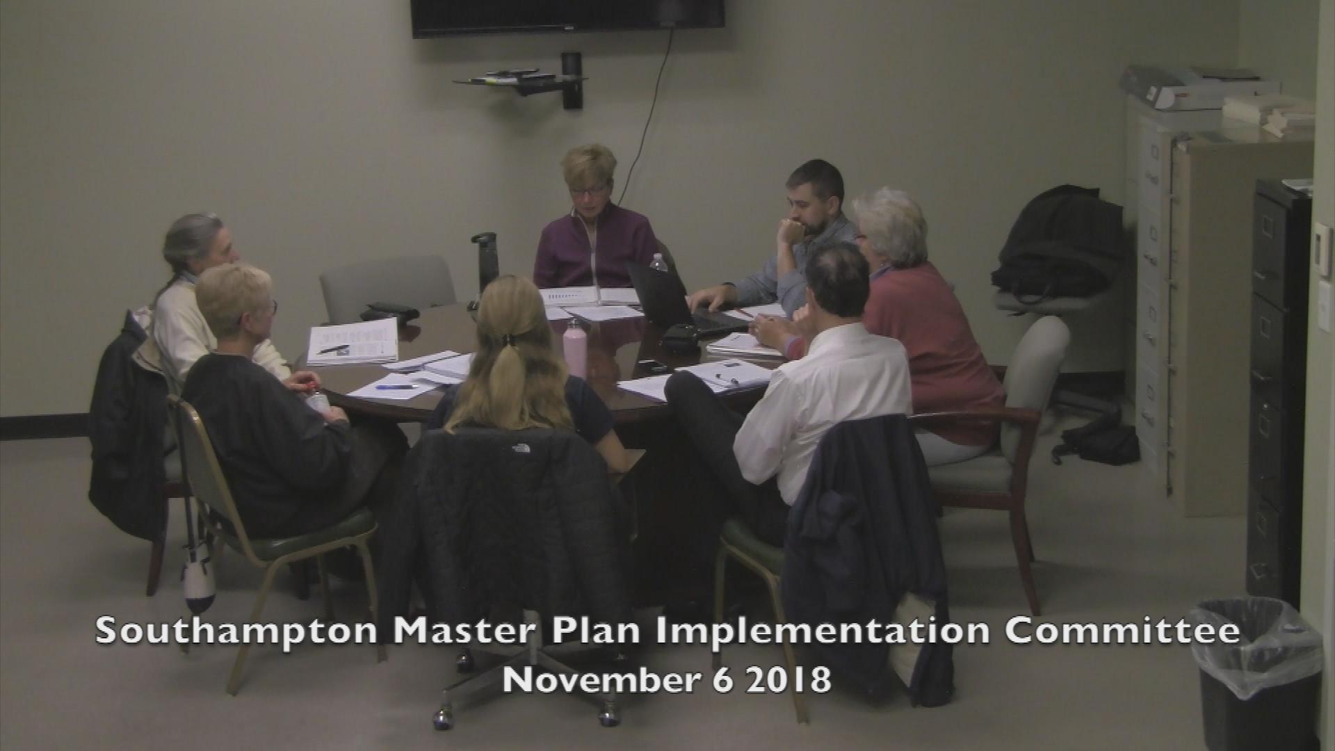Southampton Master Plan Implementation Committee November 6 2018