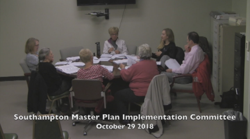 Southampton Master Plan Implementation Committee October 29 2018